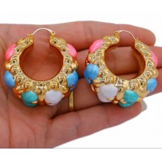 Ladies Big bold and light weight Hoop Earring