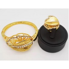 Gold plated bangles and rings